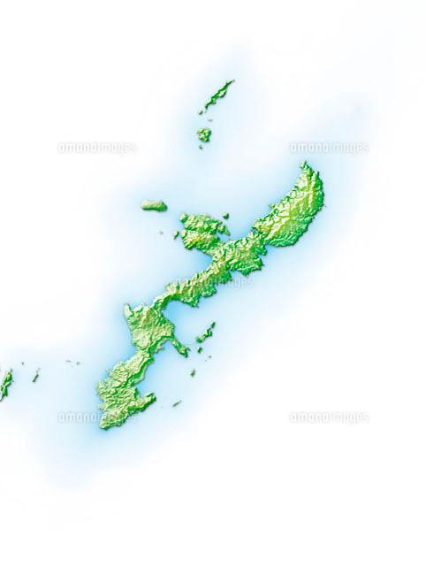 沖縄島周辺地図10263000019の写真素材イラスト素材アマナイメージズ