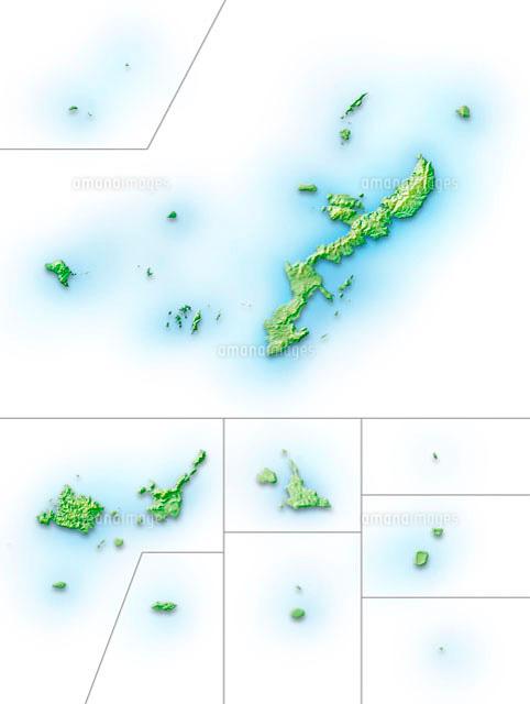 沖縄県地図10263000020の写真素材イラスト素材アマナイメージズ