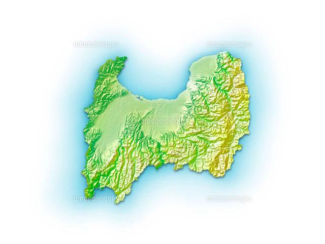 富山県地図10263000087の写真素材イラスト素材アマナイメージズ
