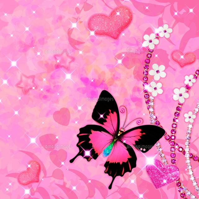 宝石と蝶のコラージュ10285000055の写真素材イラスト素材アマナ