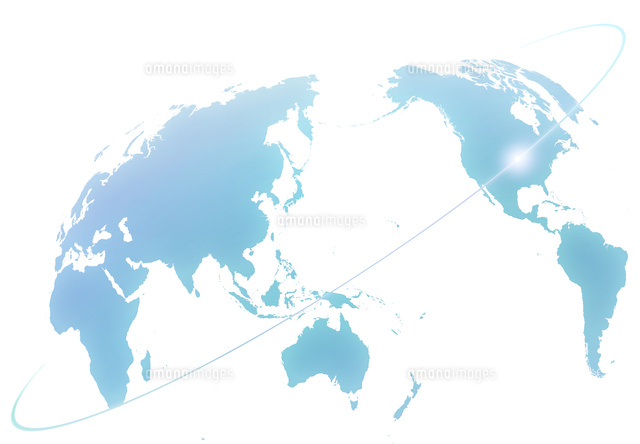 世界地図と光のライン10319000067の写真素材イラスト素材アマナ