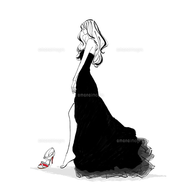 靴を履くドレスの女性10402000159の写真素材イラスト素材アマナ