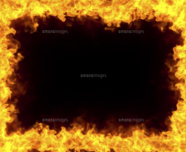 炎のフレーム10404010769の写真素材イラスト素材アマナイメージズ