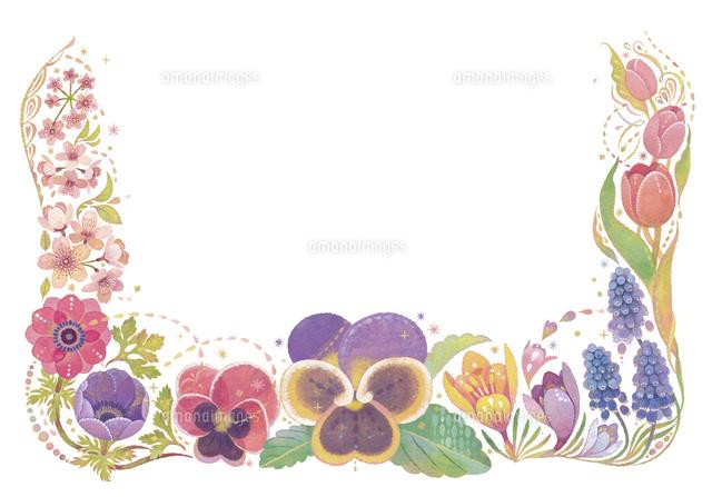 4月をイメージした花の飾り