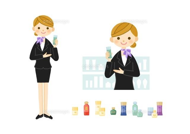 美容部員化粧品販売の女性10420000079の写真素材イラスト素材