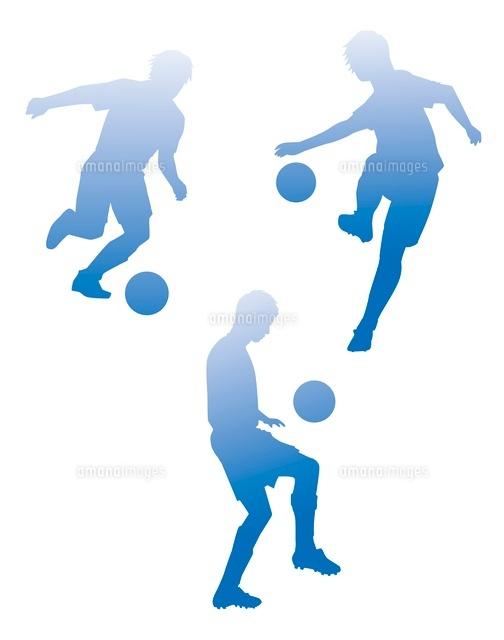 サッカーシルエット10423000583の写真素材イラスト素材アマナ