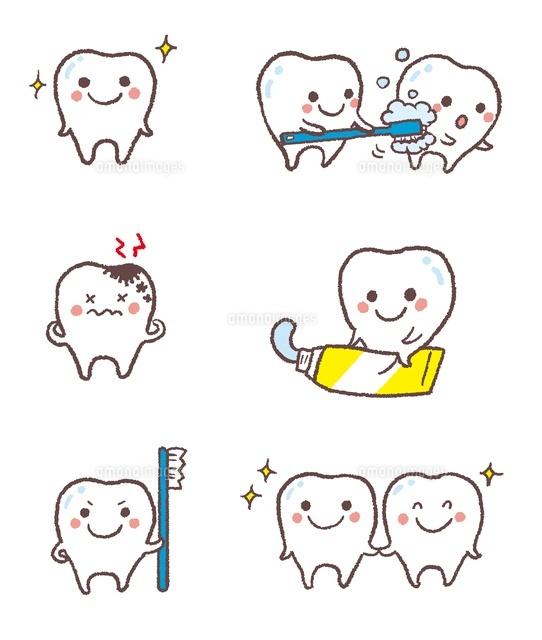 元気な歯虫歯歯磨きを促す歯10423000598の写真素材イラスト素材