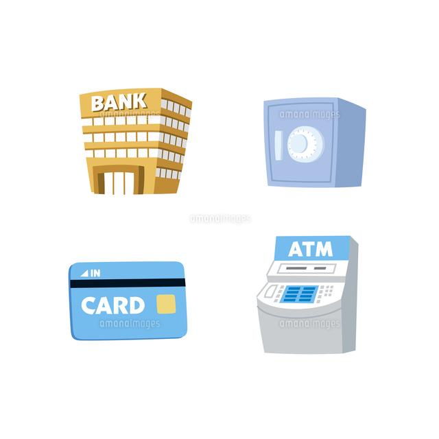 金融銀行金庫カードatm10423001026の写真素材イラスト素材