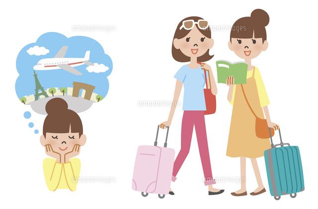 海外旅行に行く女性10423001044の写真素材イラスト素材アマナ