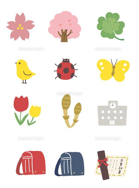 春のイラストアイコン10423001069の写真素材イラスト素材アマナ