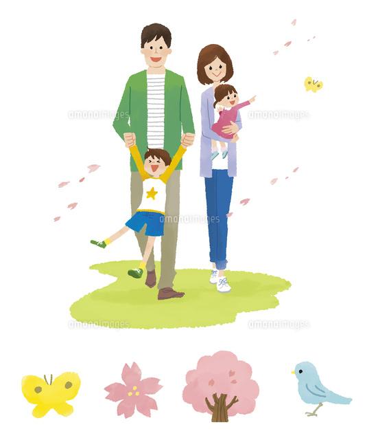 家族春春アイコン10423001084の写真素材イラスト素材アマナ