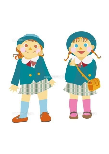 幼稚園児の女の子2人10431000014の写真素材イラスト素材アマナ