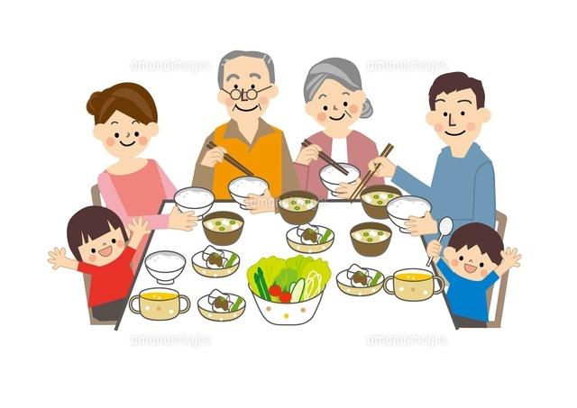 食事 家族10447000071の写真素材イラスト素材アマナイメージズ