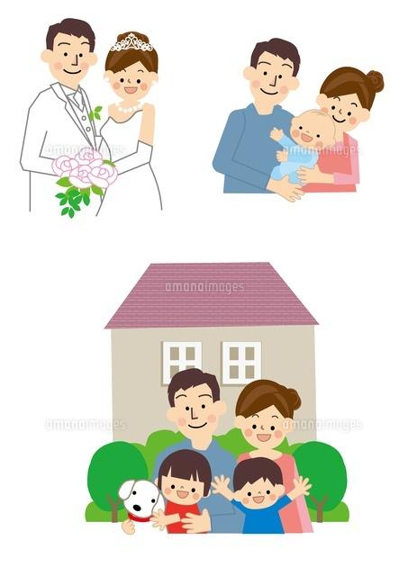 結婚 出産 マイホーム10447000154の写真素材イラスト素材アマナ