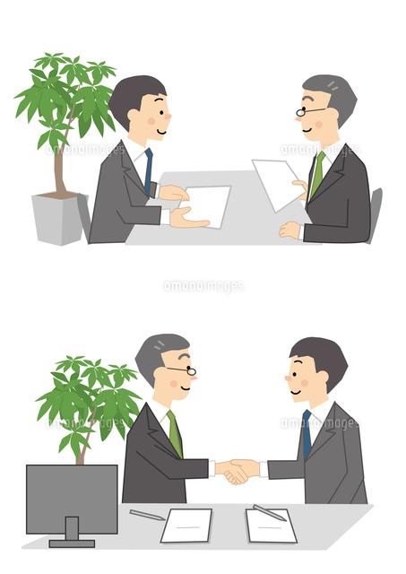 ビジネス 男性 商談 握手10447000268の写真素材イラスト素材アマナ