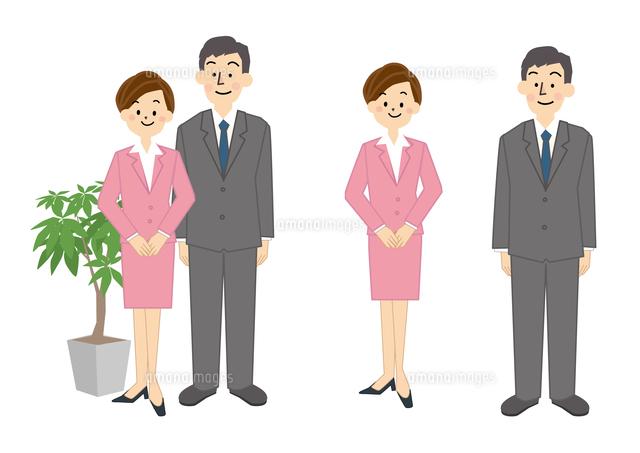 ビジネス 男性 女性 ol 受付10447000285の写真素材イラスト素材