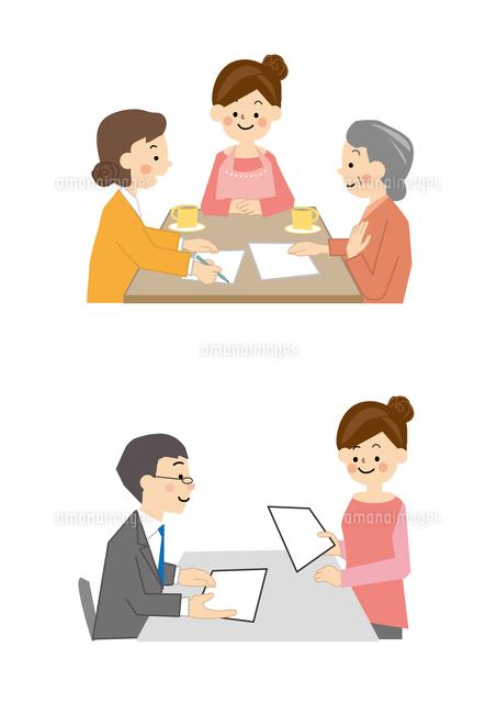 介護 認定手続きと調査 高齢者10447000307の写真素材イラスト素材