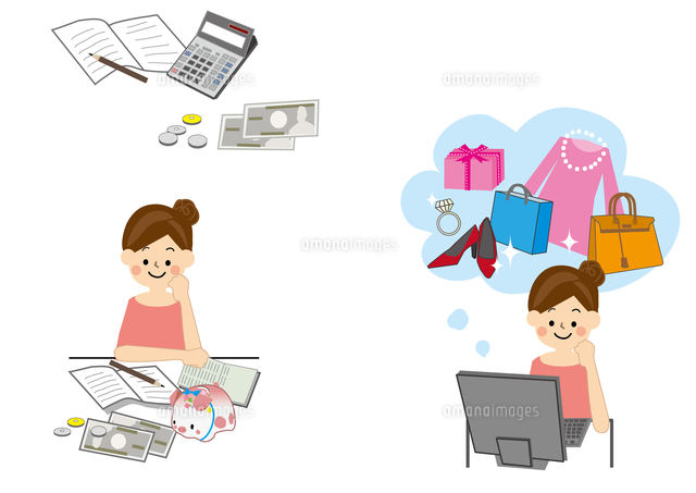 女性 投資計画10447000471の写真素材イラスト素材アマナイメージズ