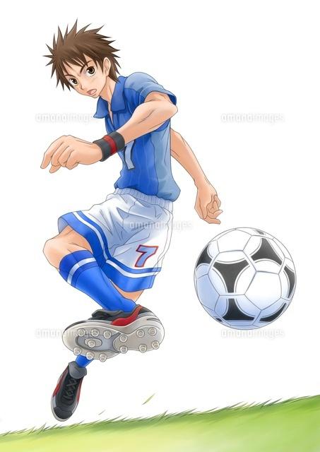 サッカー少年10456000003の写真素材イラスト素材アマナイメージズ