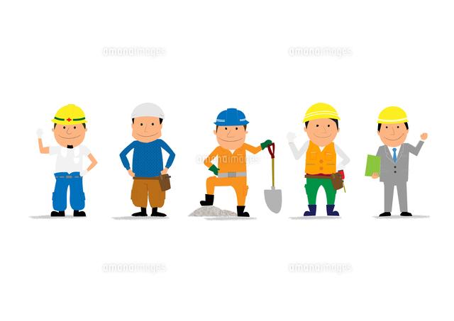 工事現場で働く人たち10467000145の写真素材イラスト素材アマナ