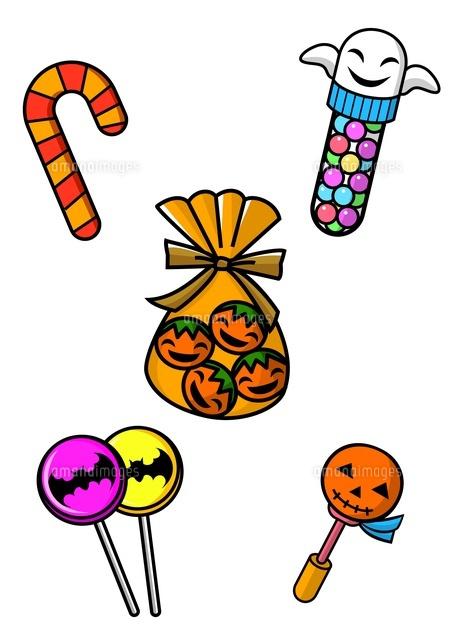 ハロウィンのお菓子10468000012の写真素材イラスト素材アマナ