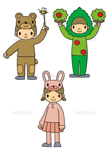 学芸会の衣装を着る幼稚園児10468000014の写真素材イラスト素材
