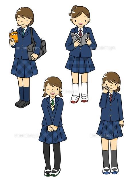 制服姿の女子中学生10468000053の写真素材イラスト素材アマナ