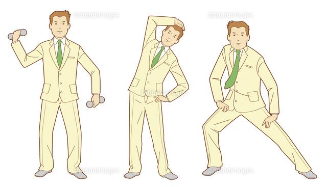 立ちポーズの男性10471000331の写真素材イラスト素材アマナイメージズ