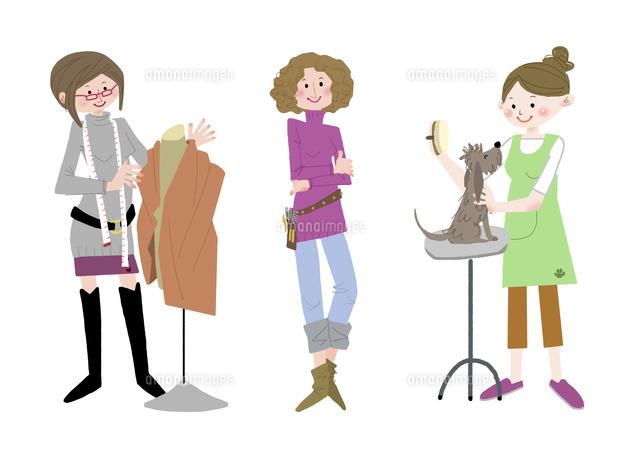 いろいろな職業 服飾デザイナー スタイリスト トリマー10473000083の