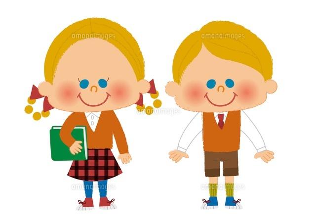 男の子と女の子10494000014の写真素材イラスト素材アマナイメージズ
