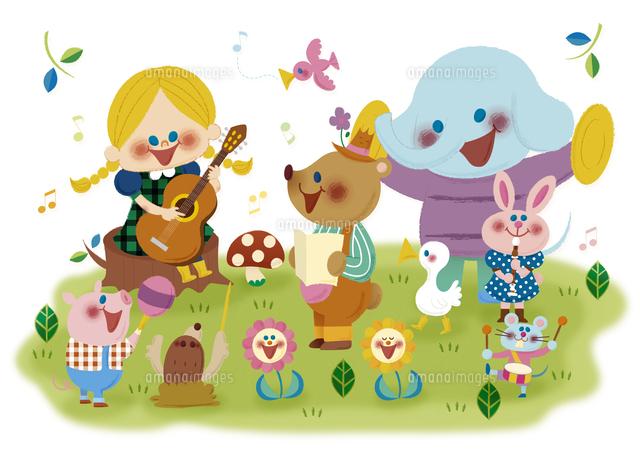 春の合唱団10494000097の写真素材イラスト素材アマナイメージズ
