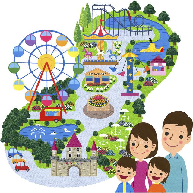 家族で遊園地10514000083の写真素材イラスト素材アマナイメージズ