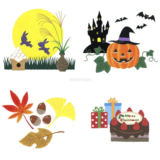 9月 10月 11月 12月イラストアイコン の写真素材 イラスト素材 アマナイメージズ