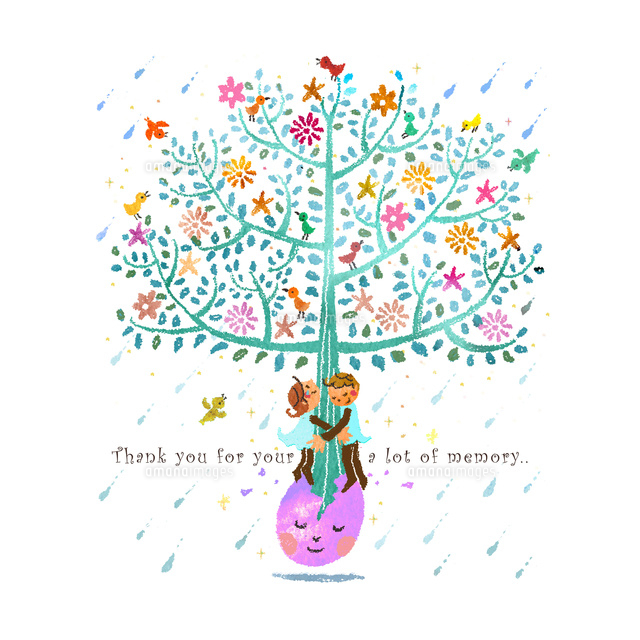 生命の樹と恋人210536000065の写真素材イラスト素材アマナイメージズ