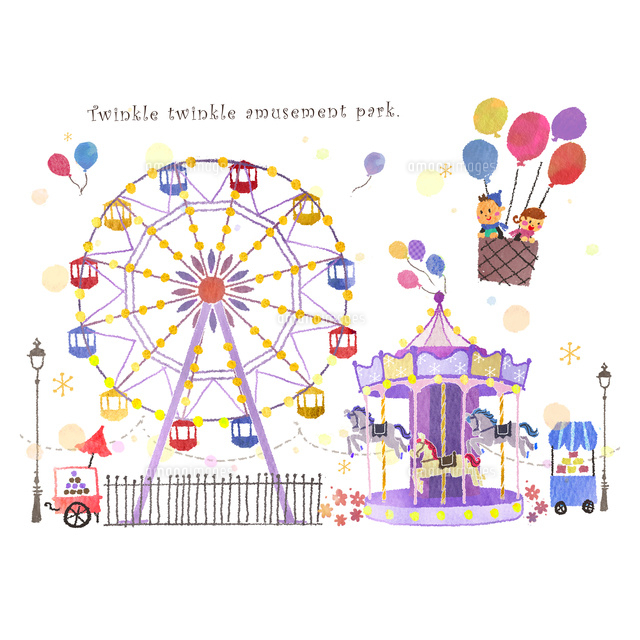 きらめく遊園地10536000107の写真素材イラスト素材アマナイメージズ