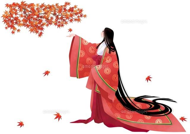 平安時代の女性 秋10587000001の写真素材イラスト素材アマナイメージズ