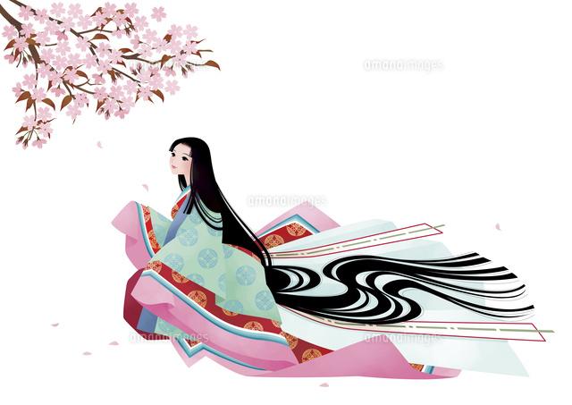 平安時代の女性 春10587000004の写真素材イラスト素材アマナイメージズ