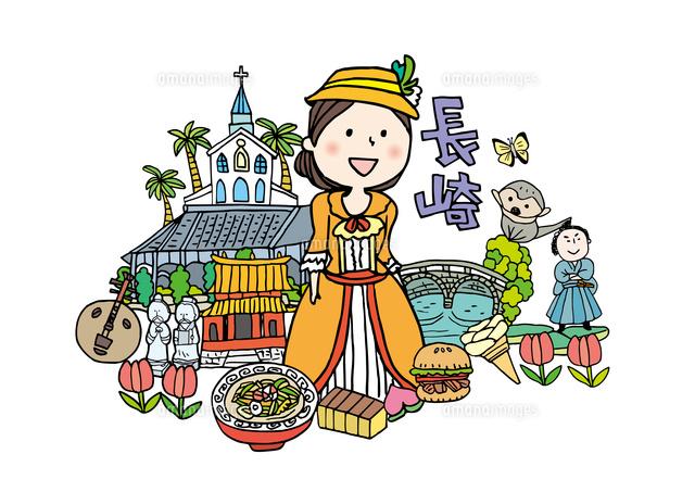 長崎観光をする女性1人10663000023の写真素材イラスト素材アマナ