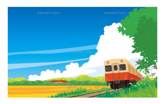 キハ200小湊鉄道 晩夏の風景10711000032の写真素材イラスト素材