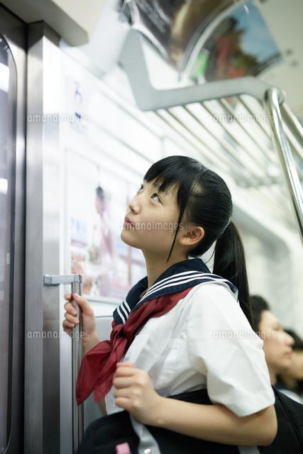 電車通学女子中学生画像