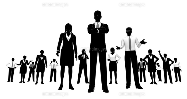 シルエット人物のビジネスイメージ10768000020の写真素材イラスト