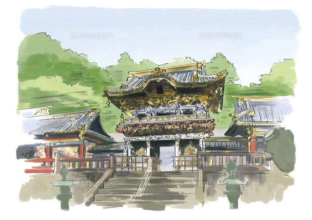 徳川家康を祀る東照宮陽明門10822000012の写真素材イラスト素材