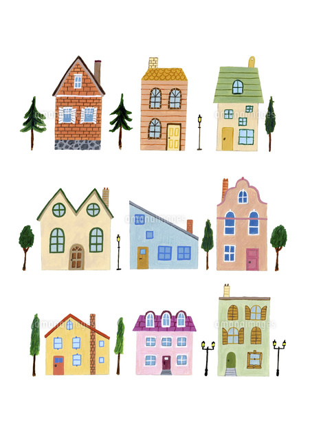 色々な窓のある色々な家10928000247の写真素材イラスト素材アマナ