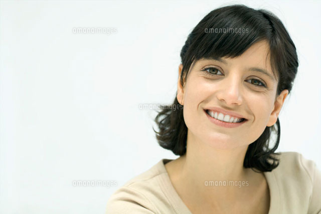 Woman smiling at camera,portrait