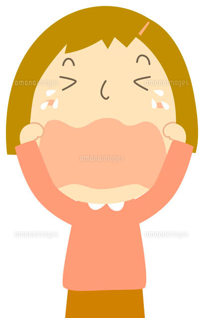 泣いている子 イラスト の写真素材 イラスト素材 アマナイメージズ