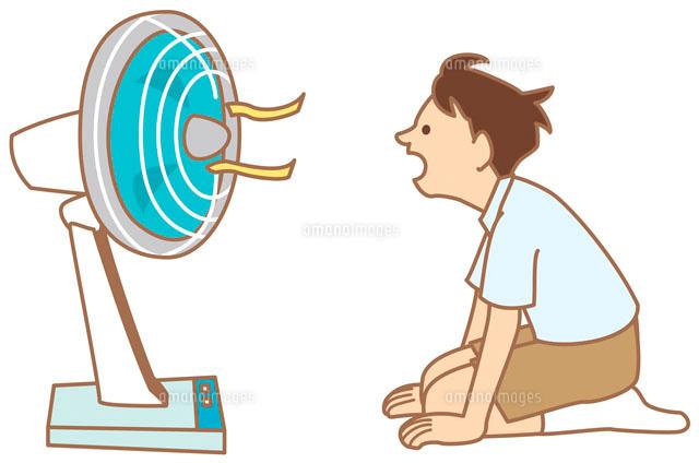 扇風機と子供 イラスト11002026626の写真素材イラスト素材アマナ