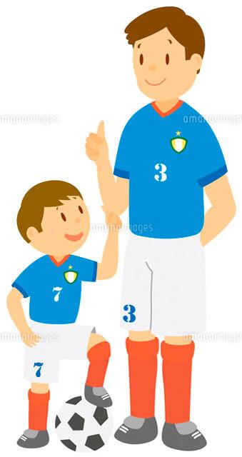 サッカーをする親子 イラスト11002026699の写真素材イラスト素材