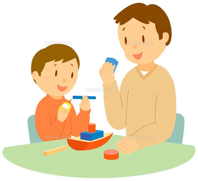 工作をする親子 イラスト11002026713の写真素材イラスト素材アマナ