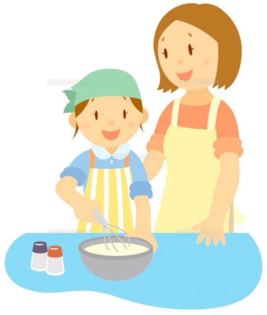 料理をする親子 イラスト11002026722の写真素材イラスト素材アマナ
