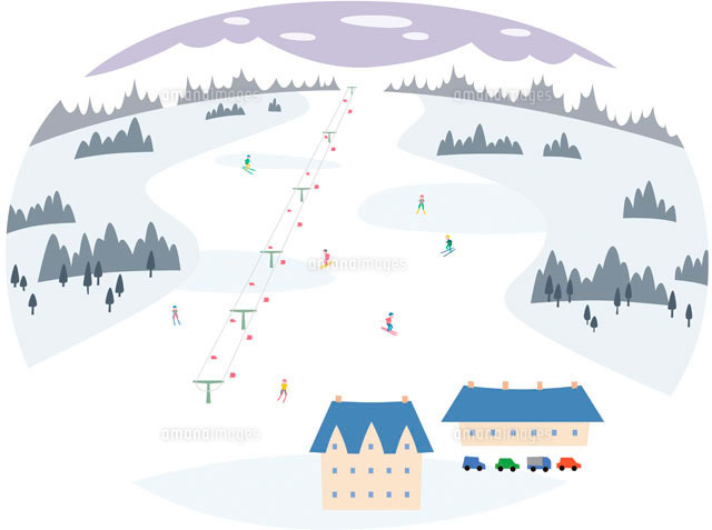 スキー場11002052019の写真素材イラスト素材アマナイメージズ